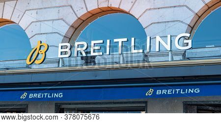 Breitling Store In Geneva In Switzerland - City Of Geneva, Switzerland - July 8, 2020