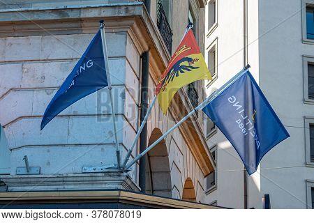 Breitling Store In Geneva In Switzerland - Geneva, Switzerland - July 8, 2020