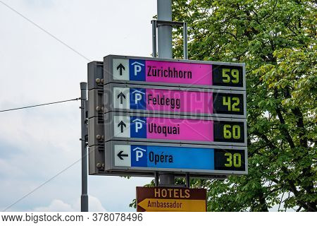 Parking Lots In Zurich - Zurich, Switzerland - July 15, 2020