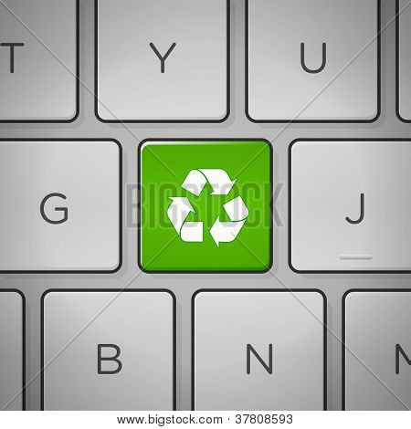 Recycle Sign Keyboard