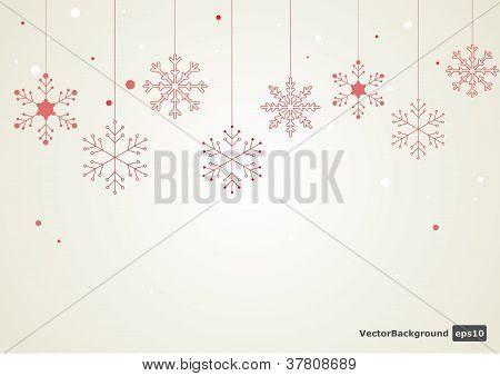 Vector snowflake background.