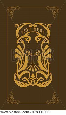 Art Nouveau Leaf Pattern For Your Businees