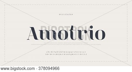 Elegant Alphabet Letters Font And Number. Typography Classic Lettering Minimal Fashion Fonts Designs