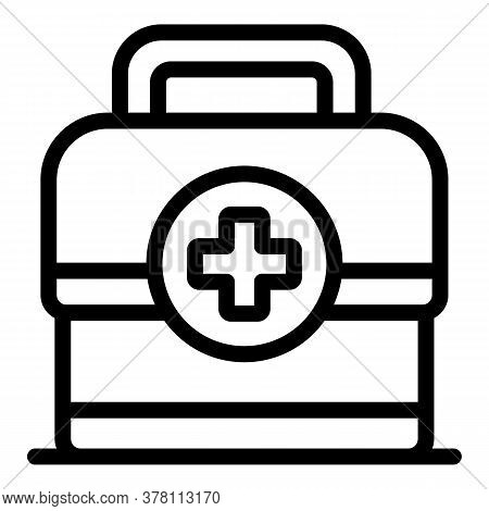 Sport Doctor First Aid Kit Icon. Outline Sport Doctor First Aid Kit Vector Icon For Web Design Isola