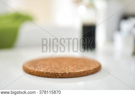 Close Up Of A Cork Placemat