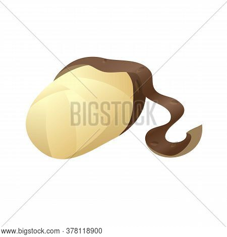 Cleaned Potato Icon. Cartoon Of Cleaned Potato Vector Icon For Web Design Isolated On White Backgrou