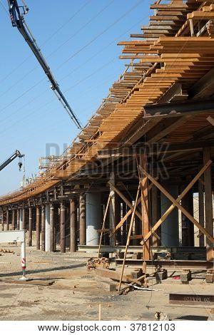Pouring Concrete for New Bridge