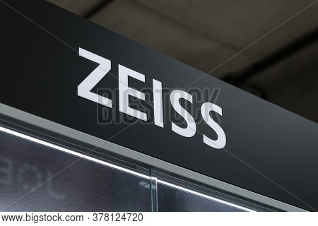 Krasnoyarsk, Russia, June 20, 2020: Zeiss Is The Logo Brand Of A German Company That Produces High-q
