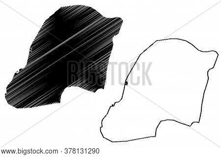 Multan City (islamic Republic Of Pakistan, Punjab Province) Map Vector Illustration, Scribble Sketch