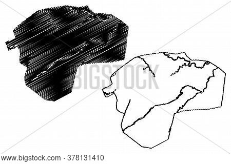 Peshawar City (islamic Republic Of Pakistan, Khyber Pakhtunkhwa Province) Map Vector Illustration, S