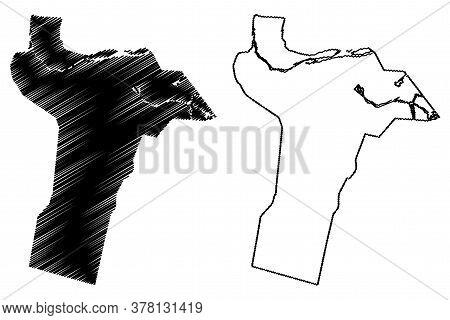 Quetta City (islamic Republic Of Pakistan, Balochistan Province) Map Vector Illustration, Scribble S