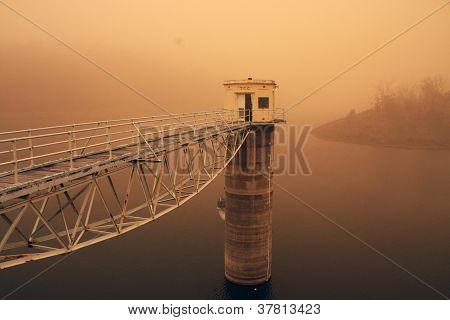 Dust Storm At The Dam