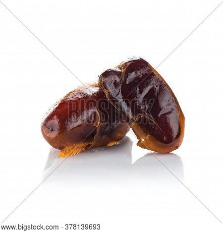 Dried Dates Isolated, Very Tasty Date On White Background