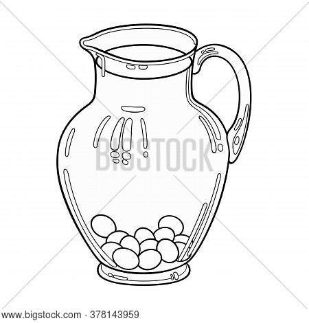 Carafe With Juice Hand Drawn Doodles Illustration