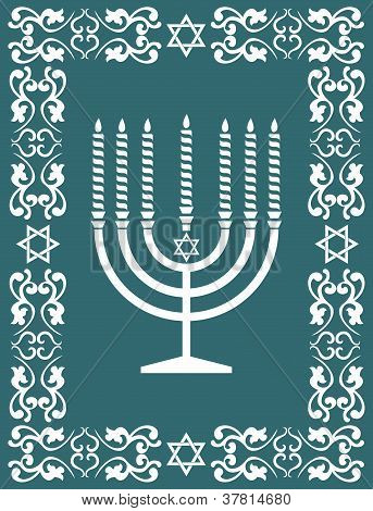 Jewish Menorah Design , Vector Illustration