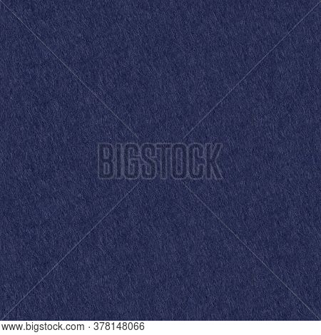 Texture Of Dark Blue Felt. Seamless Square Background, Tile Ready.
