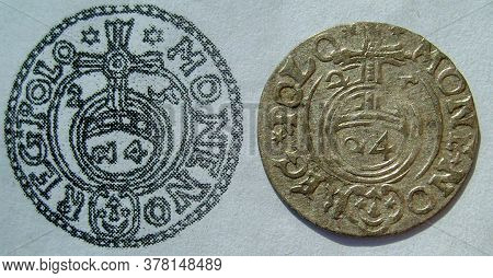 Rare Silver Coin Of 17th Century Europe