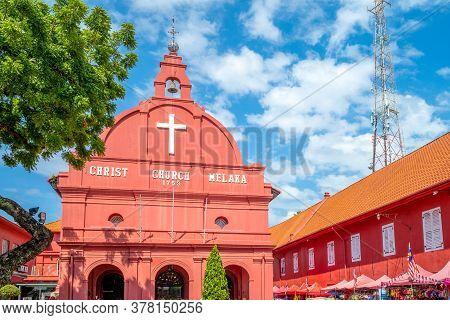 Christ Church And Dutch Square In Malacca (melaka)