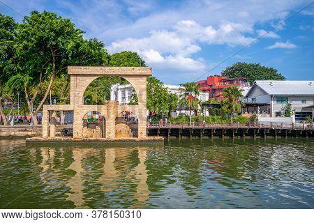 Scenery Of Melaka Sultanate Watermill In Malacca, Malaysia