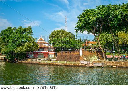 Scenery Of Bastion Middleburg In Melaka Malacca, Malaysia