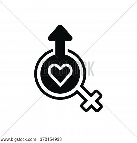 Black Solid Icon For Sexology  Gynecology Heterosexual Human Sexual Relationship Gender