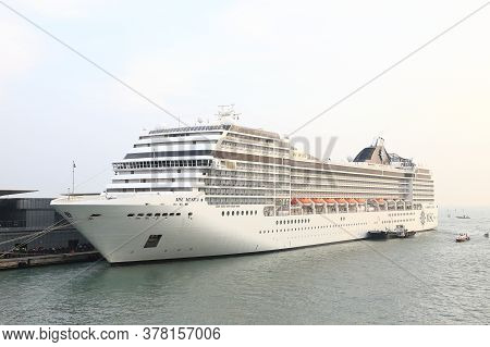 Venice - October 12:  A View Of Cruise Ship Msc Musica In The Port Of Venice, Italy On October 12th,