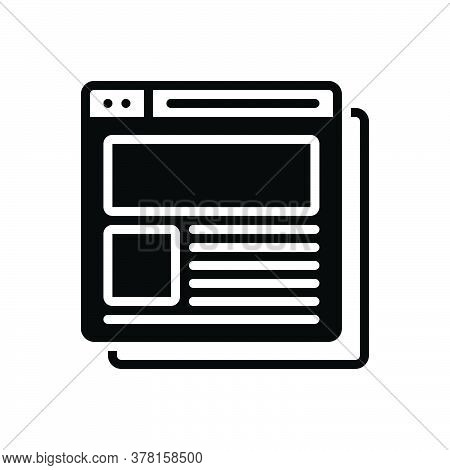 Black Solid Icon For Corporate-website Corporate Website Title Headline Heading Caption Computer Web
