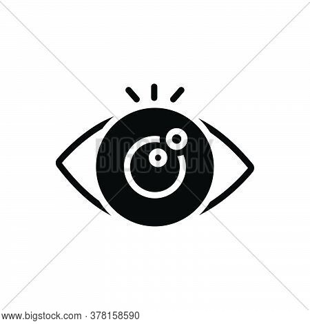 Black Solid Icon For Eye-looking Vision See View Look Sight Watch Eyesight Peep Eyeball Optical Huma