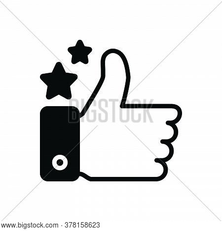 Black Solid Icon For Good-job Good Job Like Ok Approval Excellence Success Thumb Gesture Confirmatio
