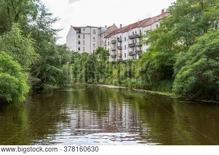 Karl Heine Canal In Leipzig. Saxony. Germany. This Is A Wonderful Place For Water Sports