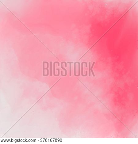 Abstract Pink Stylish Watercolor Texture Background Vector Design Illustration