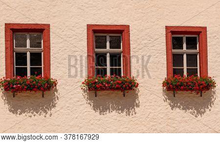 Three Windows Of The Townhall Of Markredwitz