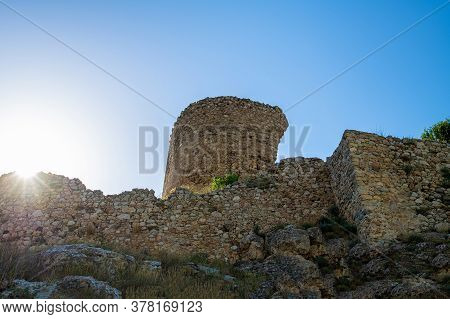 Bernabo Grillo Tower. Ruins Of The Genoese Fortress Chembalo In Crimea
