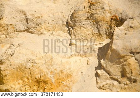 Background From Sand. Dogs In The Form Of Mountains. Mountains Of Sand. Sand Pattern