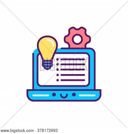 Development Concept Event Line Color Icon. Event Management. Sign For Web Page, Mobile App, Button,