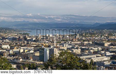 Zurich, Switzerland - July 26, 2020: Zürich Is The Largest City In Switzerland. It Is Located In Nor