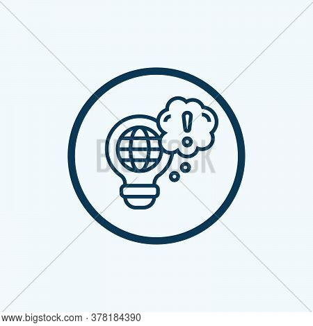 Idea Icon Isolated On White Background From User Interface Collection. Idea Icon Trendy And Modern I