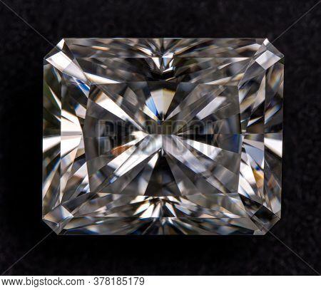 Radiant Cut Diamond Gemstone Very Close Up