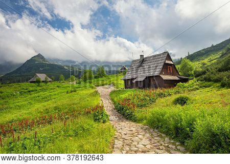 Wooden Huts In Gasienicowa Valley (dolina Gasienicowa), Tatra Mountains, Poland
