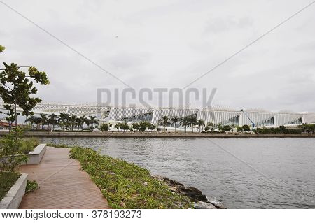 Rio De Janeiro; Brazil - February, 13, 2019: View Over Museum Of Tomorrow In Rio De Janeiro