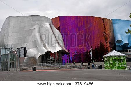 Seattle, Wa - July 11 - Experience Music Project (emp) Popular Attraction