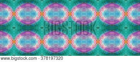 Rhombus Seamless Print. Ethnic Pattern. Geometric Optical Ornament. Bright Fabric Motif. Arabic Tile
