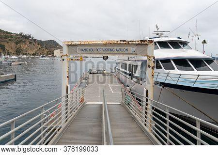 Catalina Express Speedboat Port, Avalon Bay, Santa Catalina Island, Famous Tourist Destination In So