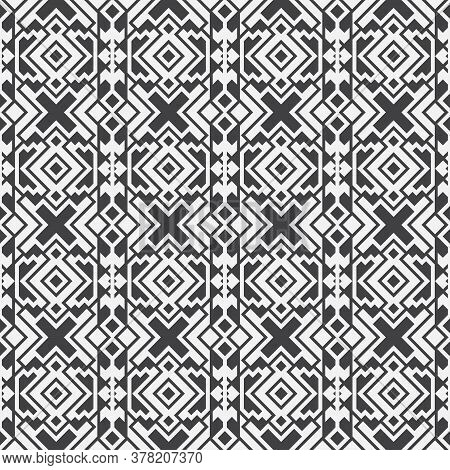 Seamless Geometric Vector Pattern. Abstract Background With Repeating Geometrical Shapes. Graphic De