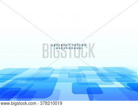 Abstract Techno Slyle Blue Background Vector Design Illustration