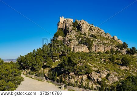 The Medieval Castle Of Cieza, Province Of Murcia, Spain.