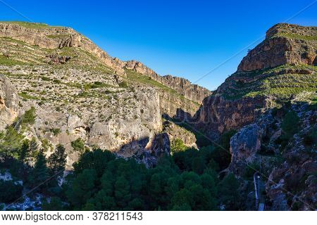 Canyon De Almadenes In The Murcia Region Of Spain. In The Upper Course Of The Segura River, Near The