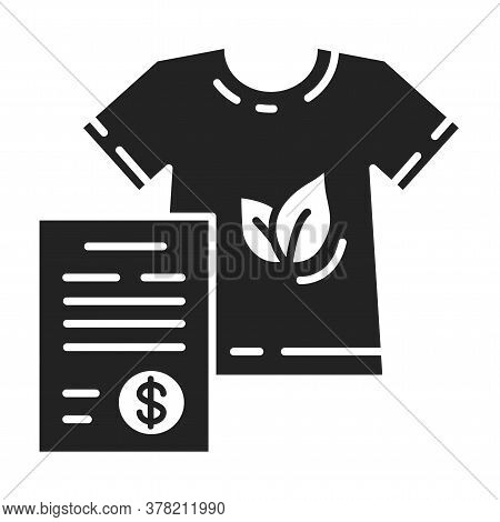 Custom Clothing Black Line Icon. Cloth Made According To Specifications Provided Or Selected By The