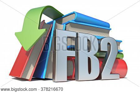 Ebook Fb2 Download Concept 3d Render Illustration Isolated On White Background