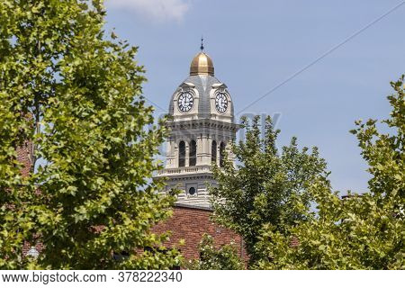 Lima - Circa July 2020: The Allen County Courthouse Is A Historic Building Located In Lima, Ohio. It